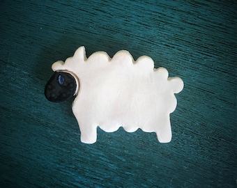 Ceramic Sheep Magnet