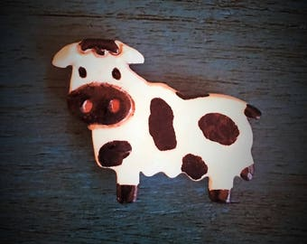 Ceramic Cow Magnet