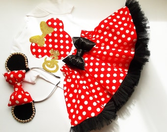 be63e2855 Minnie Mouse birthday outfit