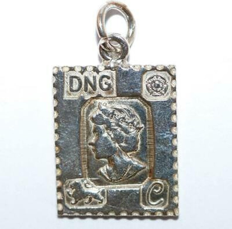 Rare Queen Elizabeth Jubilee 1977 Sterling Silver Ingot Vintage Charm by DNG