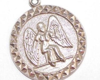 Vintage Sterling Silver Bracelet Charm Pendant Virgo Virgin Zodiac Sign (3.7g)