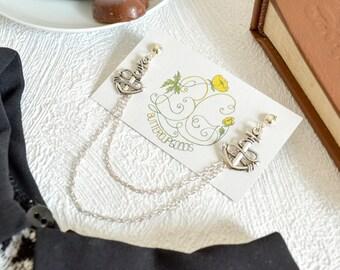 Collar pin, Statement collar chain, Collar brooch, Cardigan clip, Collar pins, Sweater guard, Collar tips, Teenager gift, Chain brooch
