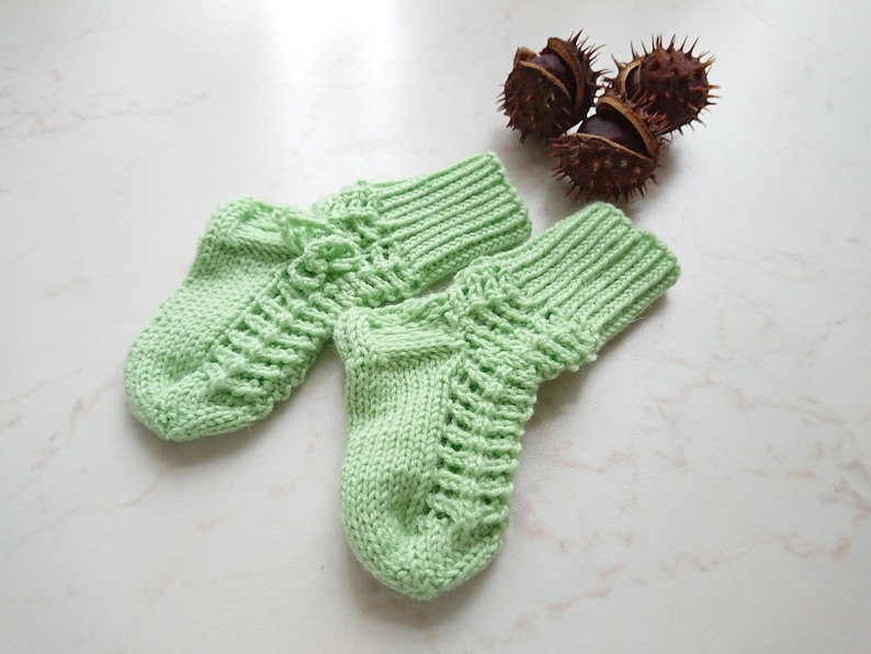 d353e78d0 Knitted baby socks Lace hand knitted toddler socks Newborn