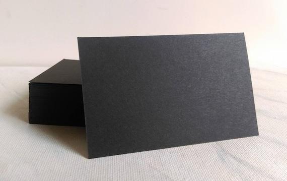Cartes De Visite Noirs Papier Cartonne Noir Blanc