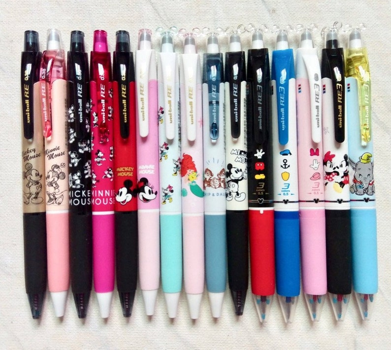 Uni Ball RE Erasable Rollerball Pen Gel Ink special Disney edition