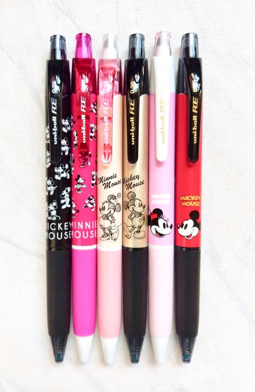 Mickey mouse pen Minnie mouse pen Uni ball RE erasable pen | Etsy