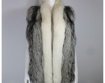 Fur vest - 70's real fox fur