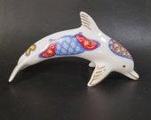 Vintage Lenox Dolphin Japanese Imari Figurine Treasury of Dolphins Retired Hard to Find Porcelain Dolphin Handmade in Malaysia