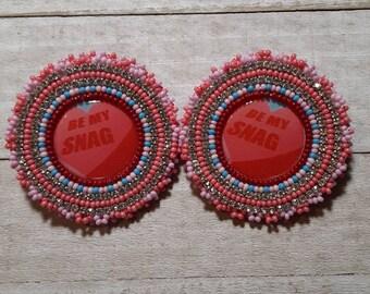 Be My Snag beaded earrings