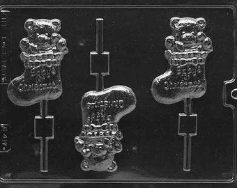 C417- Baby's First Christmas Chocolate Lollipop Mould
