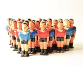 Lot of 22 Vintage Table Football Players - Table Soccer Players