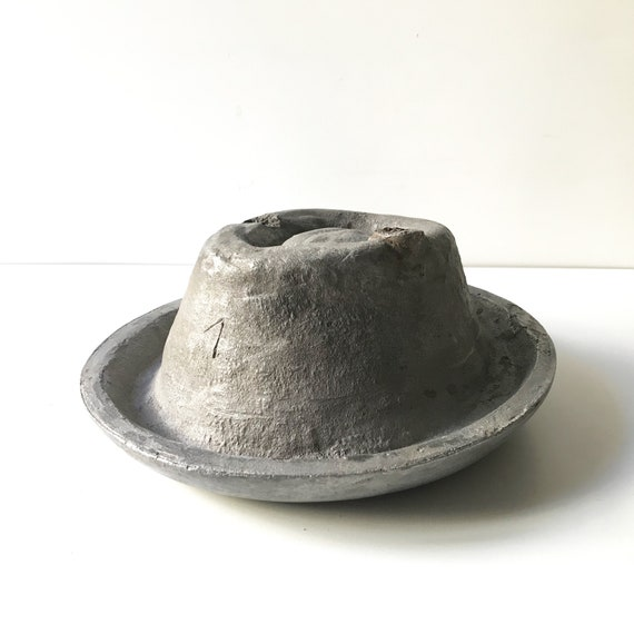 Vintage Cast Aluminum Millinery Hat Block - Hat Ma