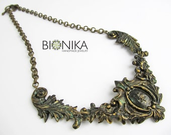 dbc03e060 Baroque Necklace Polymer clay necklace Vintage Chic jewelry Victorian style  woman steampunk jewelry emo black choker elegant necklace clay