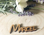1 x Disney Font Wedding Place Names, Party Names, Wedding Place Cards - Laser Cut MDF, Made to Order