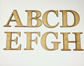 Small 2cm - 7.5cm Wooden Letters Capital or Lower Case Letters Laser Cut Alphabet and Numbers