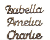 Script Font Personalised Names, 4mm MDF Wood, Wedding Names, Place Names, Children 39 s Names, Words Presents 2cm - 7.5cm