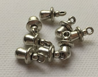 Set of 8 Silver Chubby Baby Pacifier Charm Pendants