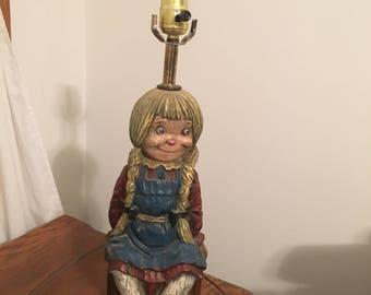 Vintage Raggedy Ann Table Lamp-Ecellent