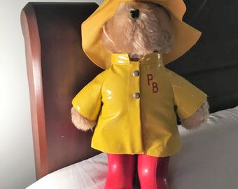 "Paddington Bear-1975 ""Darkest Peru to London England""--13 1/2"" high --Excellent"
