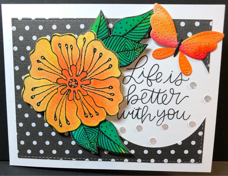 Life is better with you I'm here for you card Friend image 0