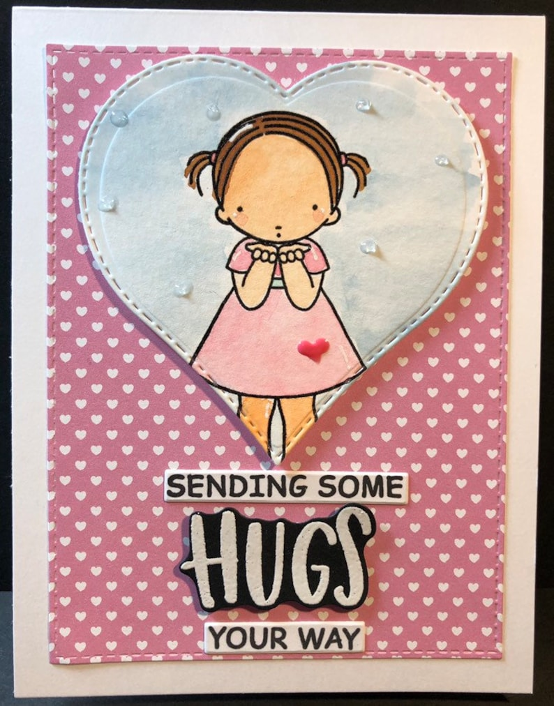 hello hello card thinking of you flower girls image 0