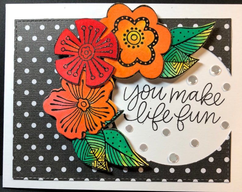 You make life fun I'm here for you card Friend Card image 0