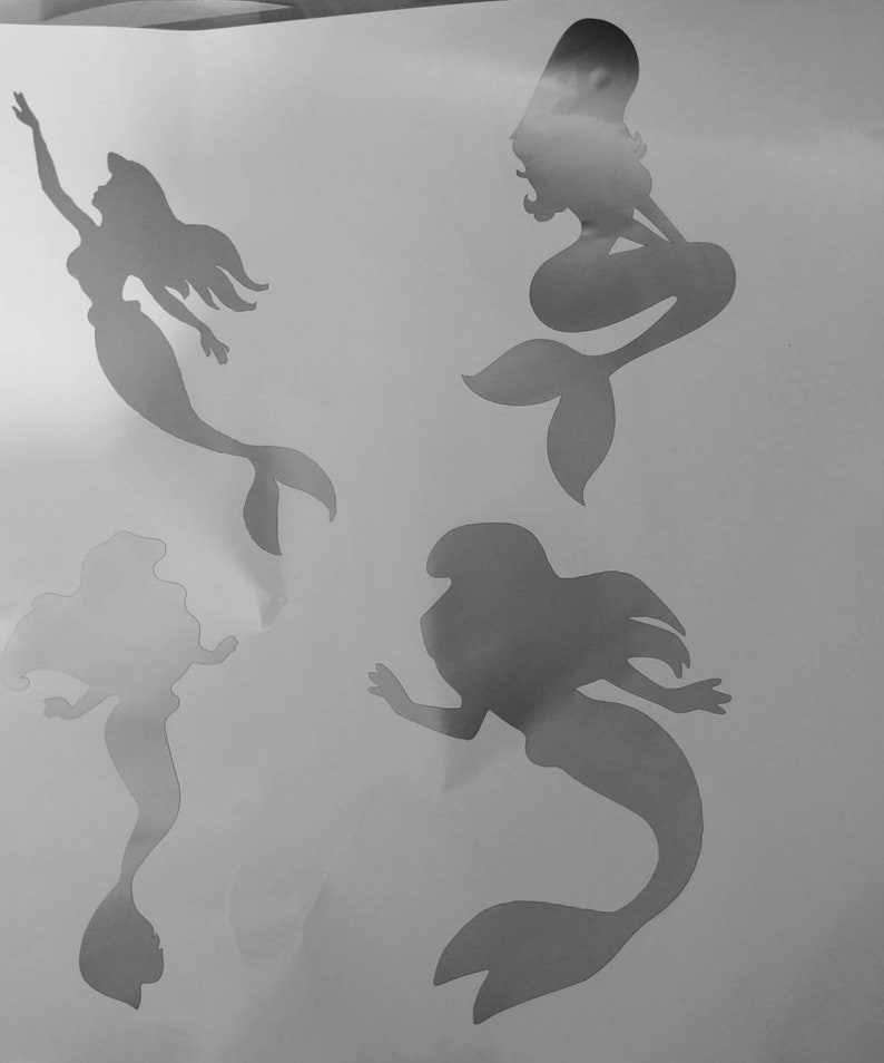 large different decals for 1 Price 5.5 in 4 Long Disney Ariel Mermaid