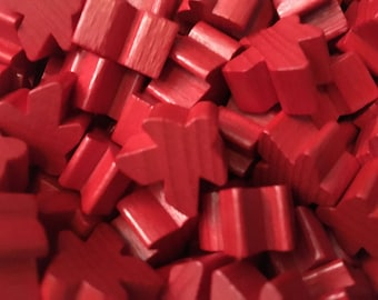 16mm Original Carcassonne Red Meeples