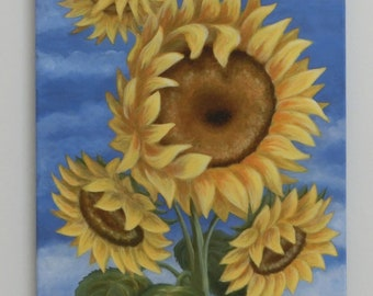 oil painting sunflower gr.: 50 x 70 cm paintings original unique nature