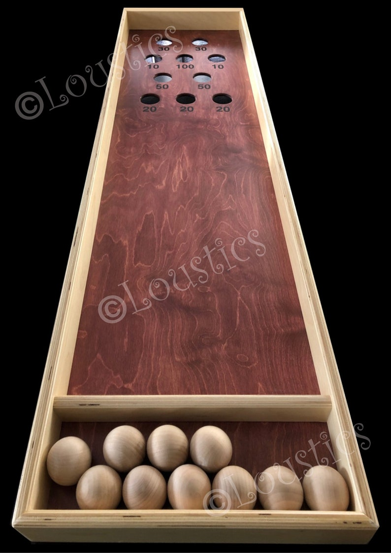Japanese Shuffelboard Game Wooden Table Top Game Perfect For Parties Your Country House Or Your Basement