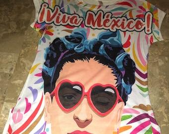 Frida Kahlo Viva Mexico Blouse