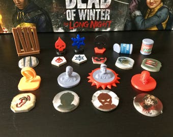 Dead of Winter Full Token Set (Optional The Long Night Tokens)