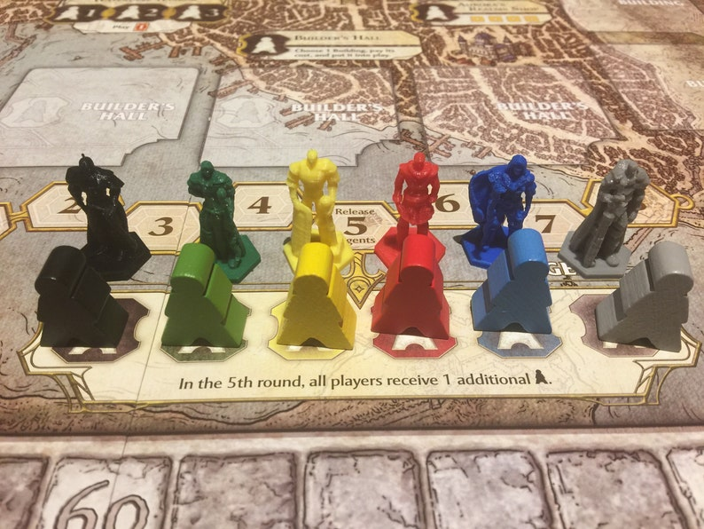 Lords of Waterdeep Agents w/Optional Expansion Set Exp. Agents Only
