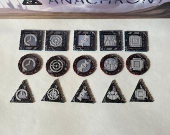 Anachrony Breakthrough Tokens (set of 45)