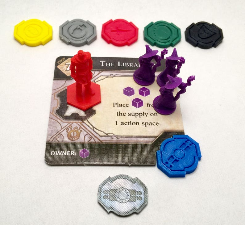 Lords of Waterdeep Building Tokens Economy Set image 0