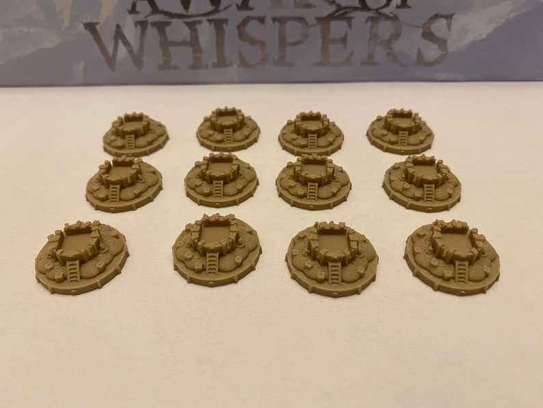 A War of Whispers City Tokens set of 12 image 0