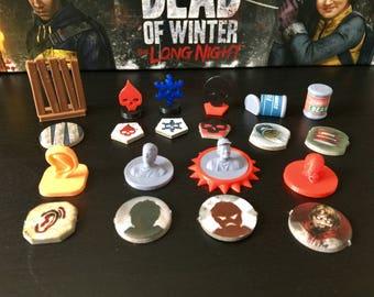Dead of Winter Economy Token Set (Optional The Long Night Tokens)