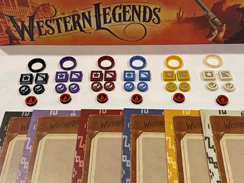 Western Legends Player Tokens set of 43 tokens image 0