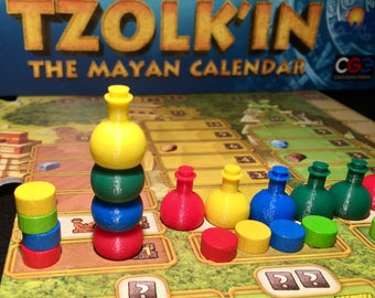 Tzolk'in Player Marker Pottery Tokens (optional 5th player)