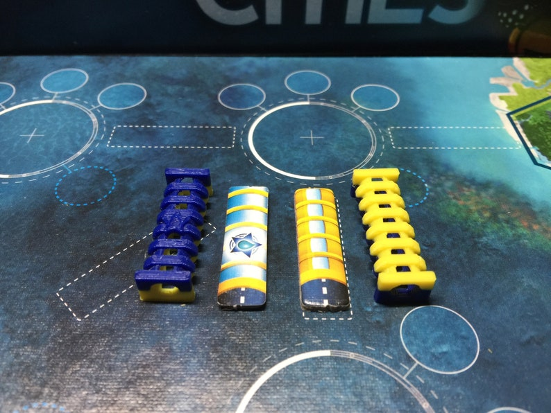 Underwater Cities Tunnel Tokens set of 47 image 0