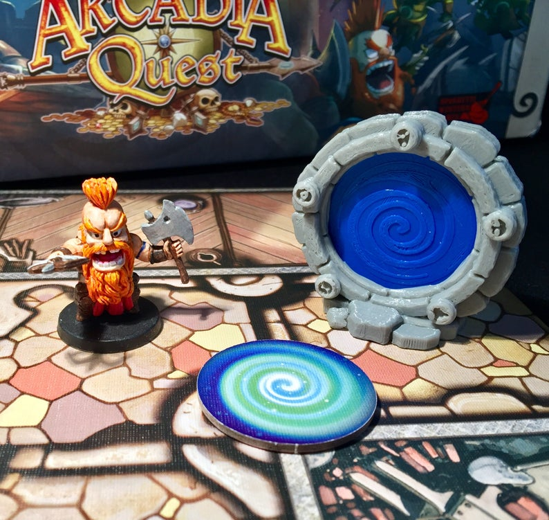 Arcadia Quest Portals with optional blue and red token image 0