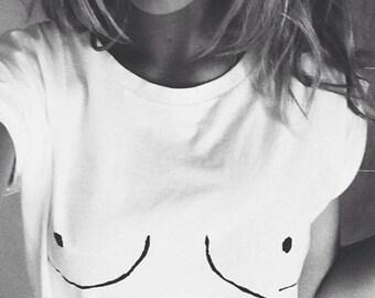 Boob Shirt. Boobs Shirt. Boobies Shirt. Women's rights Shirt. Feminist Shirt. Tumblr Shirt. Boob boobs T-Shirt. S-2XL.