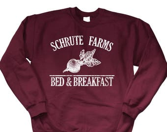 Schrute Farms Sweater. Schrute Farms  Bed and Breakfast Sweatshirt. Schrute T-Shirt. The Office Shirt. The Office Merch. S-3XL.