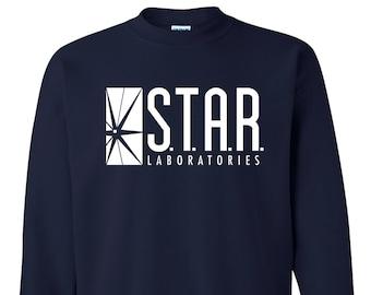 STAR Laboratories Shirt , Crewneck , Sweatshirt , S.T.A.R. Laboratories T Shirt , Star Laboratories Sweatshirt , STAR Labs Shirt , The Flash
