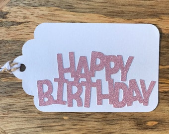 """All That Glitters """"HAPPY BIRTHDAY"""" Gift Tags"""