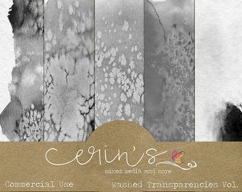 Watercolor Transparencies Vol.1~Commercial Use Digital Textures~High Quality CU~Commercial Use OK~Watercolor Textures~Hand Painted Digital