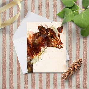 Cow card Horse card Urban farmhouse Baby shower gift mom gift animal card animal note card set Horse notecard Sheep painting
