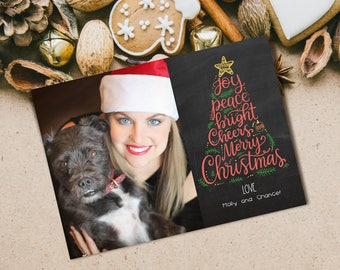 Chalkboard Photo Card~Christmas Photo Card~Printable Photo Card~Printable Christmas Card~Chalkboard Christmas~Christmas Typography