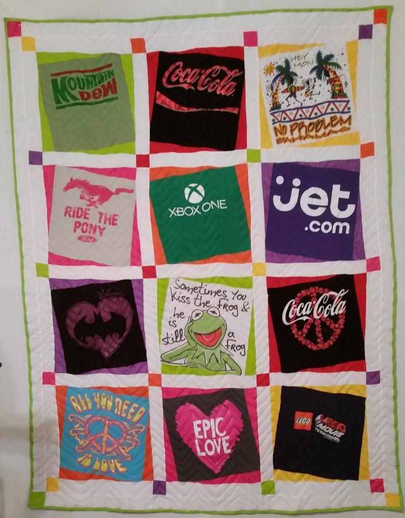 Topsy-turvy T-Shirt Quilt