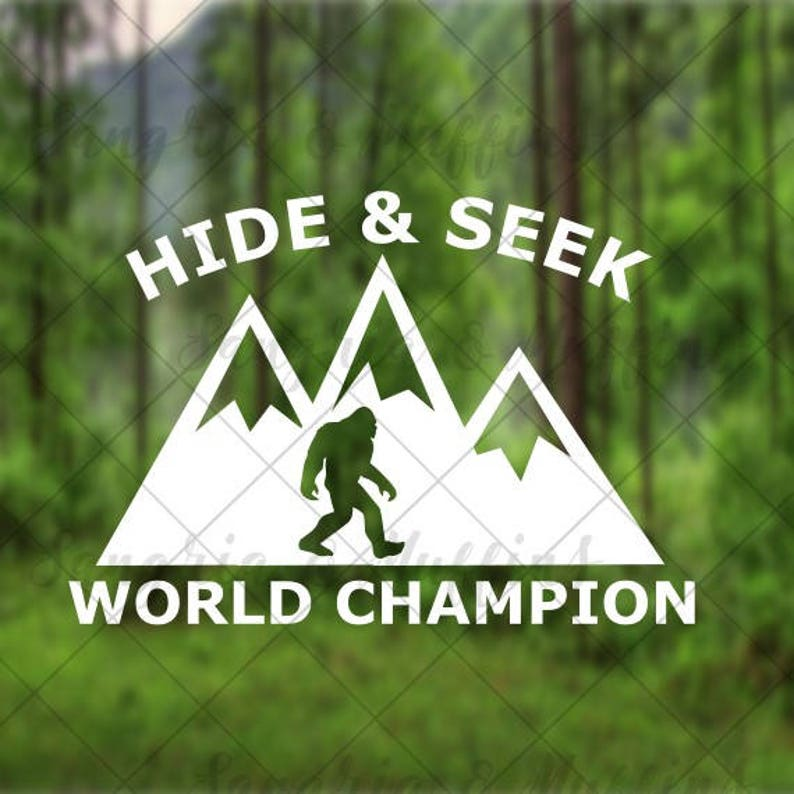 8e3f8f69 Hide And Seek World Champion Sasquatch mountains decal car | Etsy